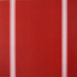苏艺-《律-两柱线-红》-90×90cm-木质板材、混合水漆-2015-