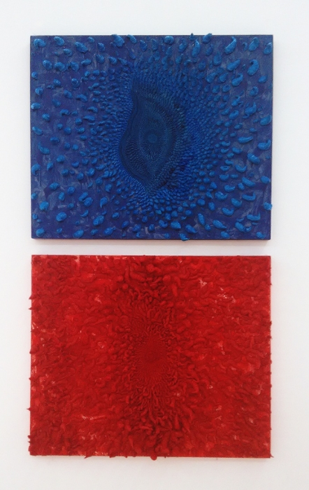 赵燕峰Zhao Yanfeng, 蕊拉丝钉系列Rui La Si Ding Series,120×100cm,油画,2014